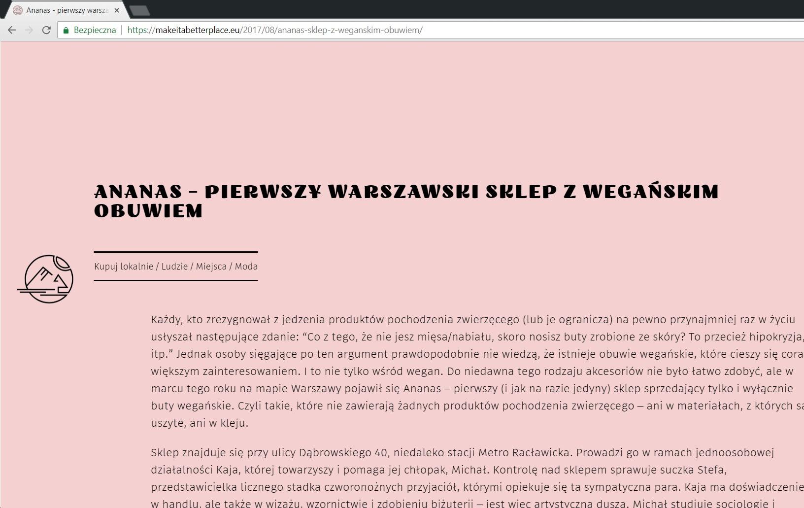 makeitabetterplace.eu o ananaswarsaw.pl